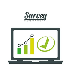 Survey design illlustration vector