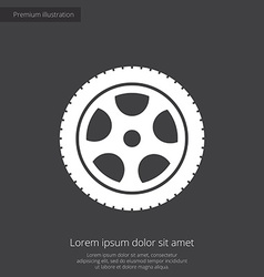 Car wheel premium icon vector