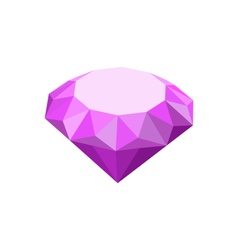 Purple diamond isolated on white background vector