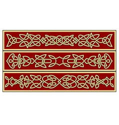 celtic ornaments and patterns for irish or religio vector image