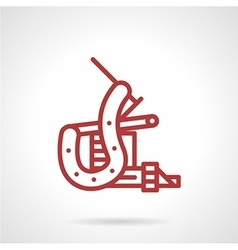 Red line tattoo machine icon vector