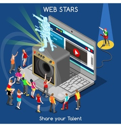 Webstars 01 people isometric vector
