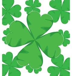 Shamrock for st patrick day vector