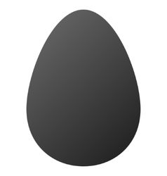 Egg gradient icon vector