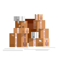 Pile of stacked sealed goods vector