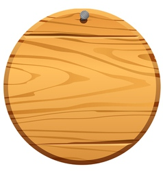 Circle wood frame vector image