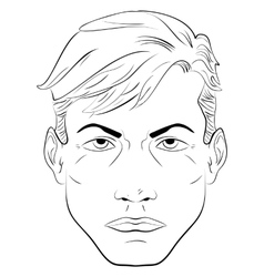 Sketch handsome man face vector