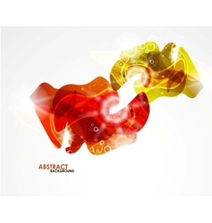 Abstract colorful modern smooth shape vector image