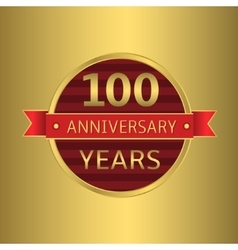 Anniversary 100 years vector image