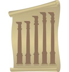 Antique columns vector