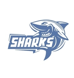 blue shark icon vector image