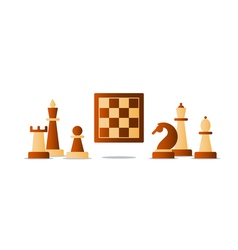 Chess debut tournament event chess club strategy vector