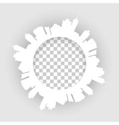 circle modern city vector image