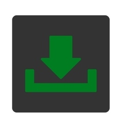 Download flat green and gray colors rounded button vector
