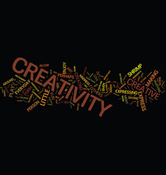 Everyday creativity text background word cloud vector