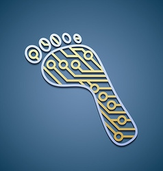 foot with a chip vector image