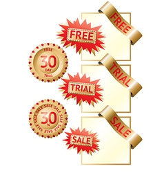 Golden sale labels vector image
