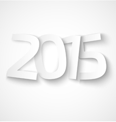 Happy new year 2015 paper text on white background vector