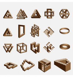 impossible objects vector image vector image