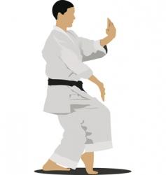 Karate sportsman vector