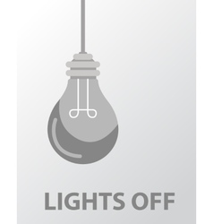 light bulb light off flat design vector image