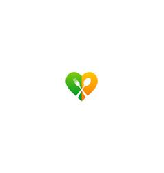 Love food spoon cook logo vector