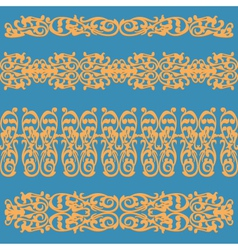 Pattern ornament orange vector