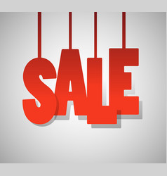 Red text sale on gray background vector