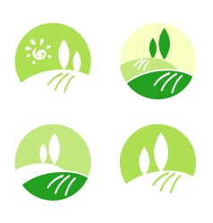 Rolling hill icons vector