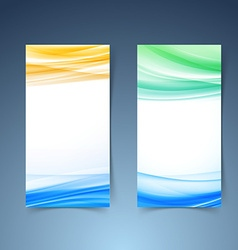 Smooth modern abstract vertical card collection vector image vector image