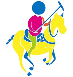 Sport icon for polo vector image