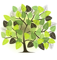 spring garden - abstract tree vector image vector image
