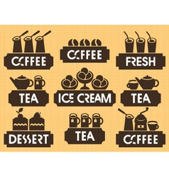 tea coffee dessert vector image vector image