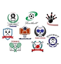 Team sports emblems and logo vector image vector image