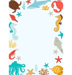 Under The Sea Card vector image