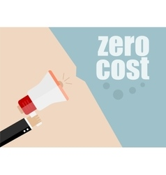 Zero cost flat design business vector