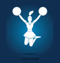 Cheerleader jumping vector