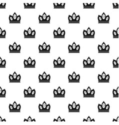 Queen crown pattern vector