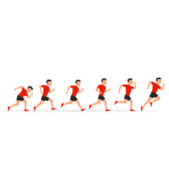 Running man in different positions vector