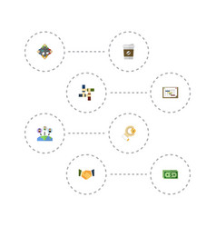 Flat icons discussion break support and other vector