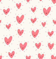 Doodle hearts pattern vector