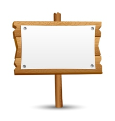Wooden blank sign vector