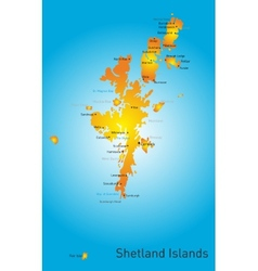 Shetland Islands vector image