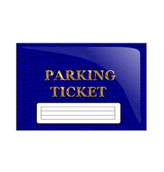 Parking ticket vector