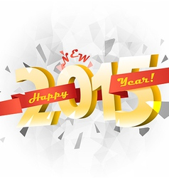 Happy new 2015 year banner vector image