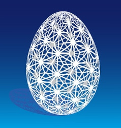 Easter egg with 3D pattern vector image