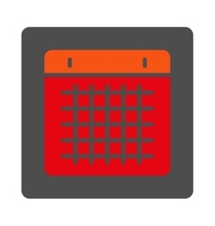 Calendar rounded square button vector