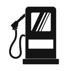Gas station black simple icon vector image