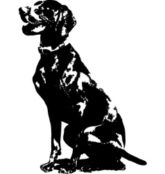 German pointer silhouette vector