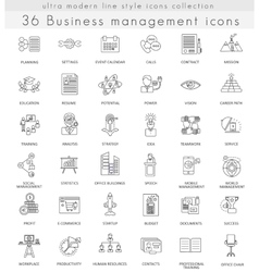 Business management ultra modern outline vector